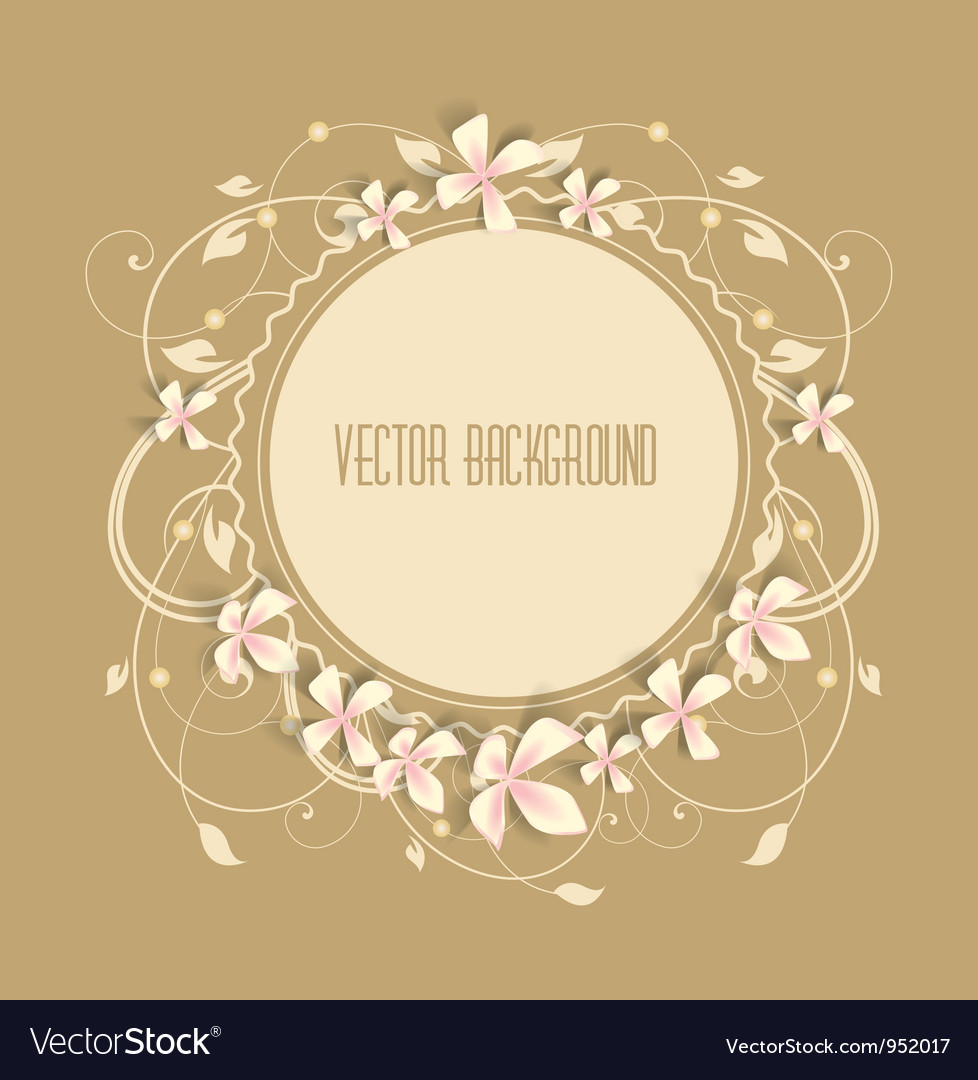 Beautiful frame vector | Price: 1 Credit (USD $1)