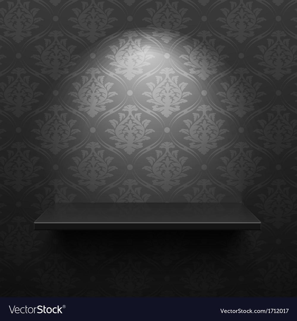 Black shelf vector | Price: 1 Credit (USD $1)