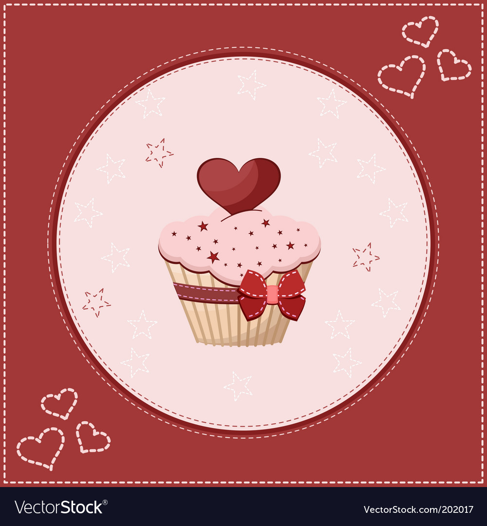 Cake greeting card vector | Price: 3 Credit (USD $3)