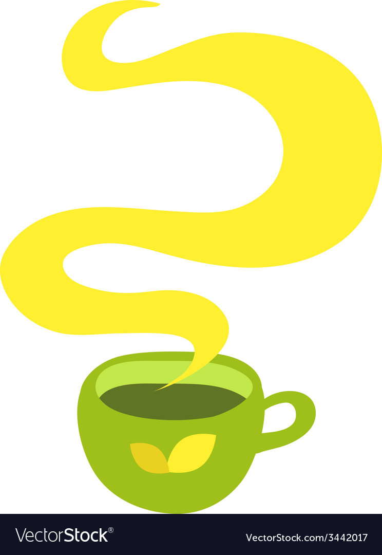 Cup of hot drink coffee tea etc vector | Price: 1 Credit (USD $1)