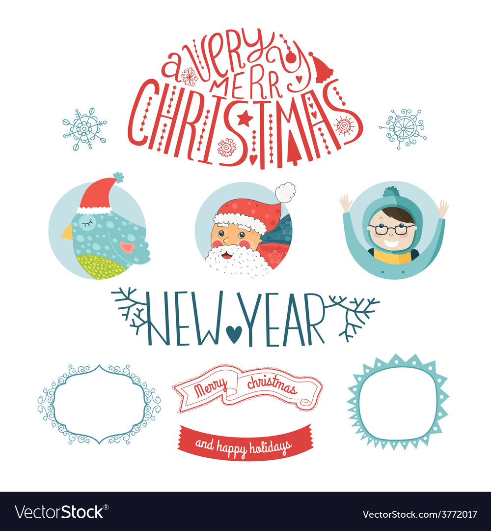 Decorative christmas elements vector | Price: 1 Credit (USD $1)