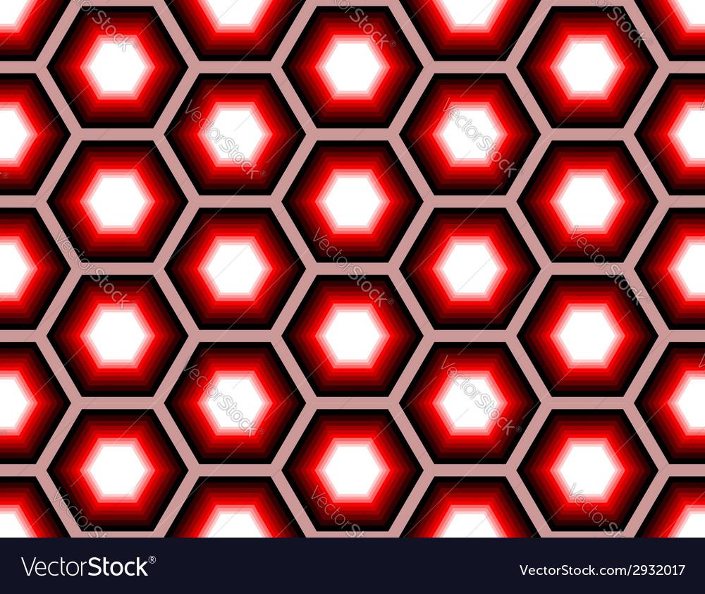 Design seamless colorful hexagon geometric pattern vector   Price: 1 Credit (USD $1)