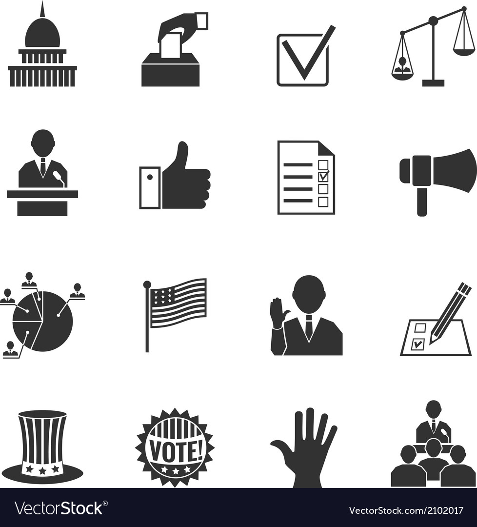 Elections icons set vector | Price: 1 Credit (USD $1)