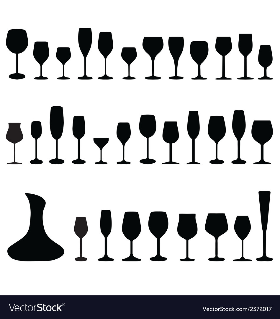 Glasses and bottles vector | Price: 1 Credit (USD $1)
