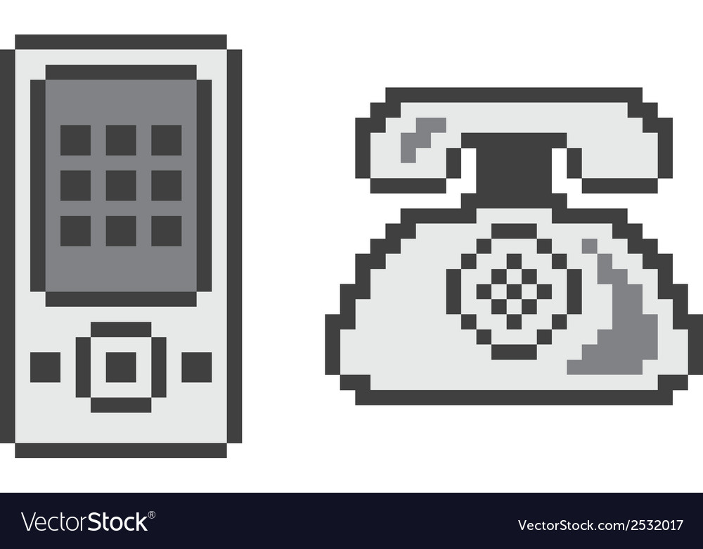 Pixelated technology icons vector   Price: 1 Credit (USD $1)