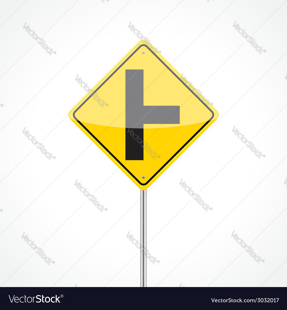 Side road sign vector | Price: 1 Credit (USD $1)
