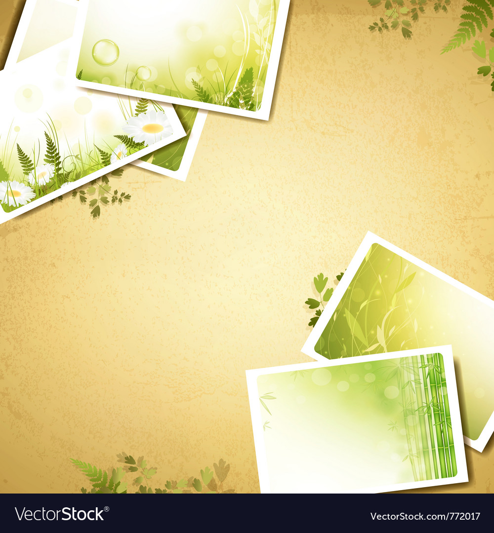 Vintage eco background vector | Price: 3 Credit (USD $3)