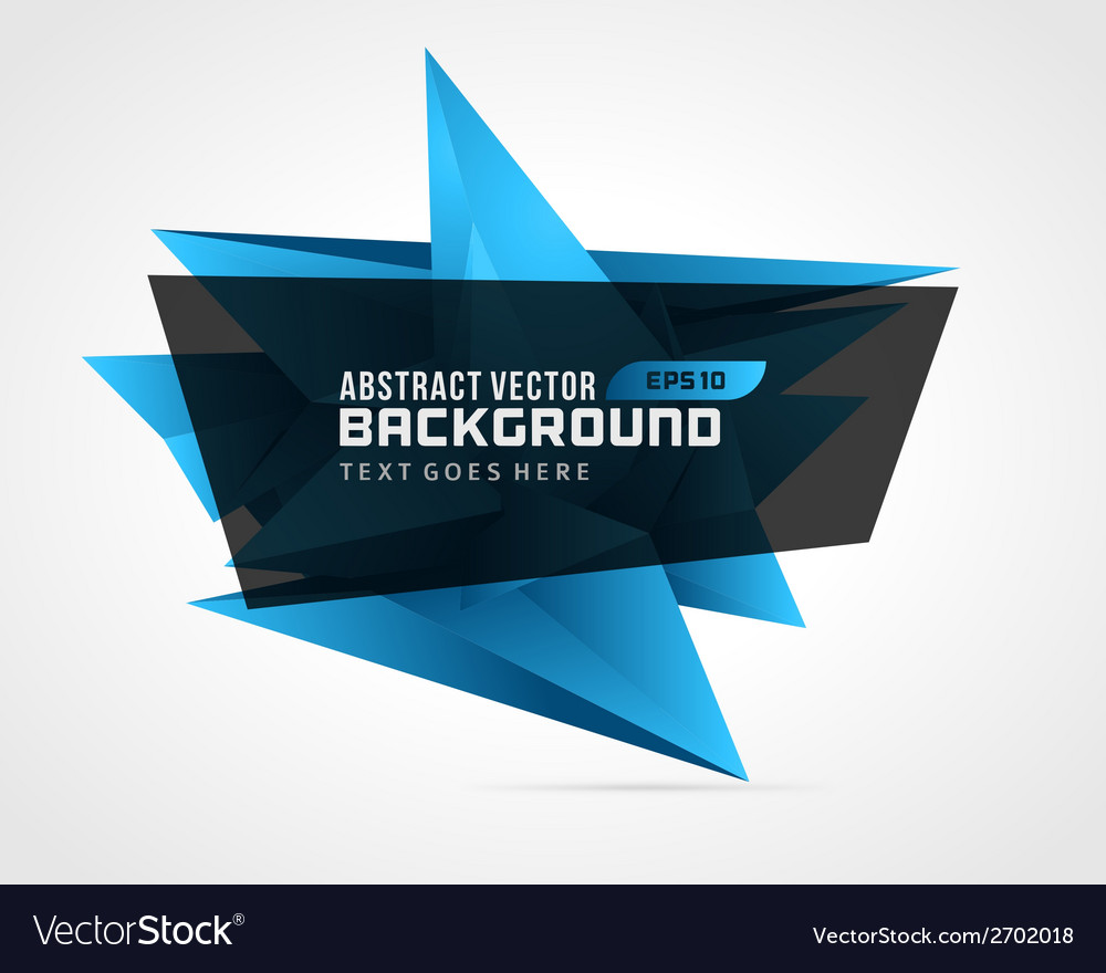 Abstract geometric 3d blue shape background vector   Price: 1 Credit (USD $1)