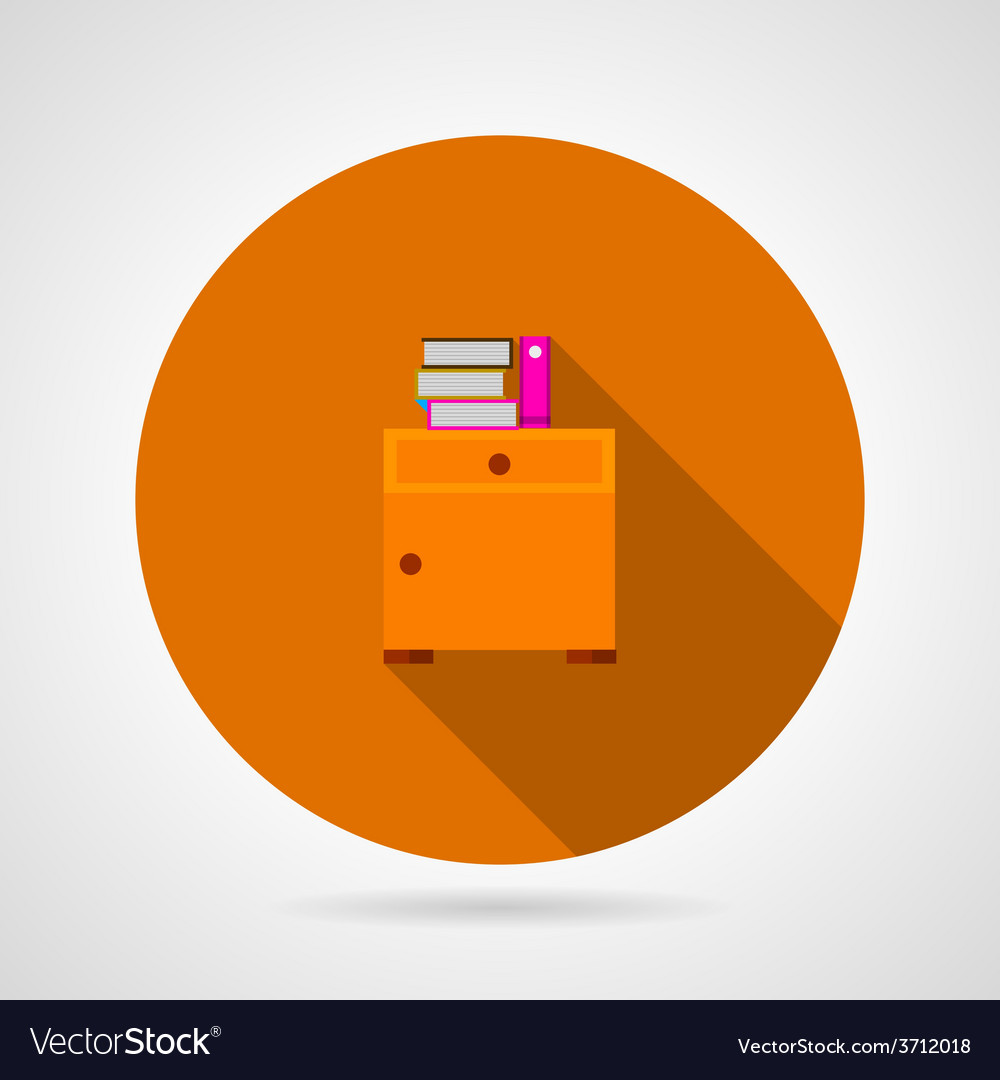 Bedside table flat icon vector | Price: 1 Credit (USD $1)
