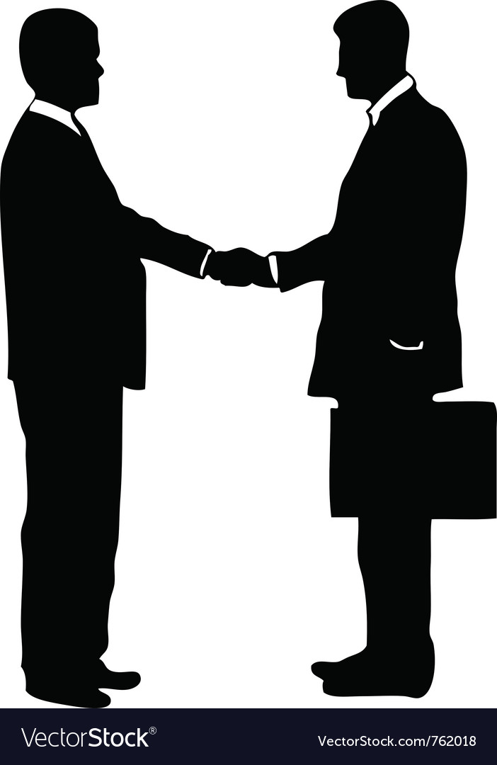 Businessmen shaking hands vector | Price: 1 Credit (USD $1)