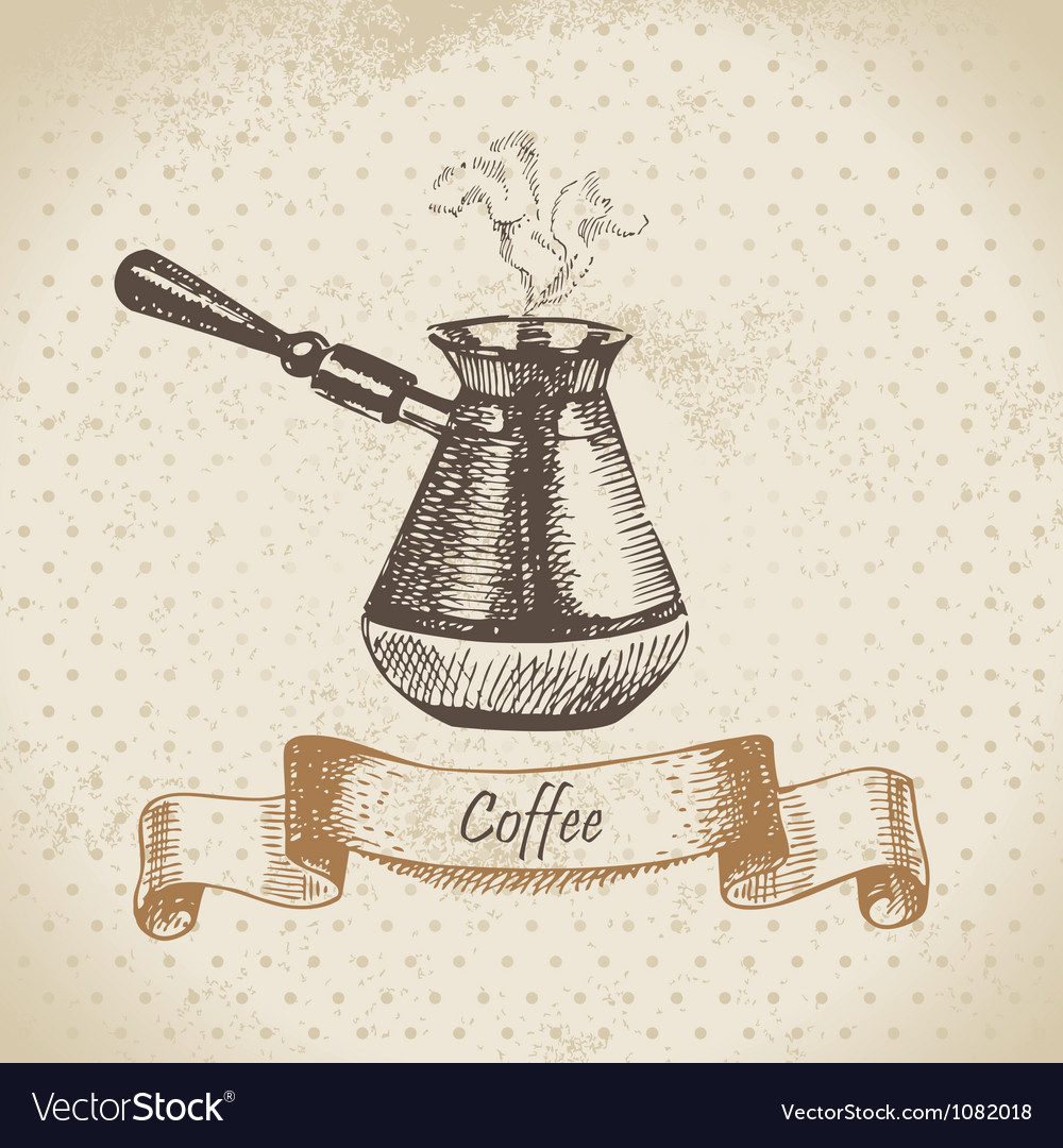Coffee pot hand drawn vector | Price: 1 Credit (USD $1)