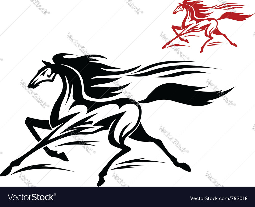 Fast running stallion vector | Price: 1 Credit (USD $1)