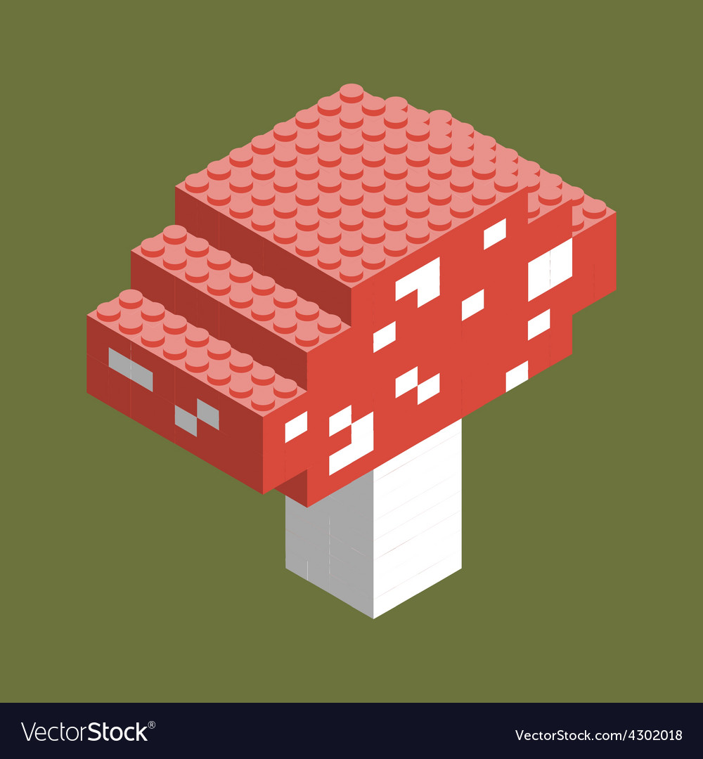 Isometric plastic building blocks and tiles vector | Price: 1 Credit (USD $1)