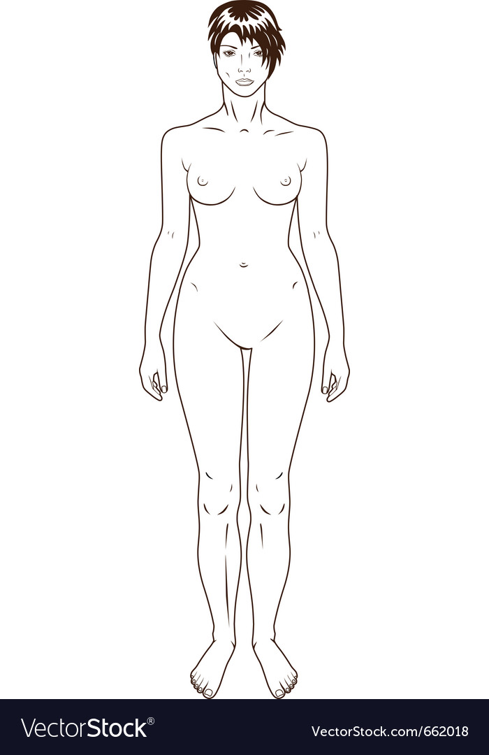 Naked standing woman vector | Price: 1 Credit (USD $1)
