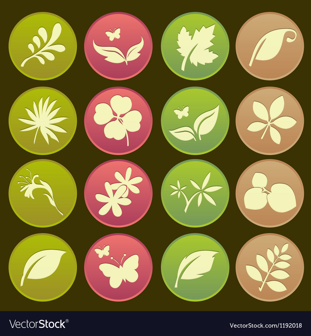 Natural leafs icon gradient style vector | Price: 1 Credit (USD $1)