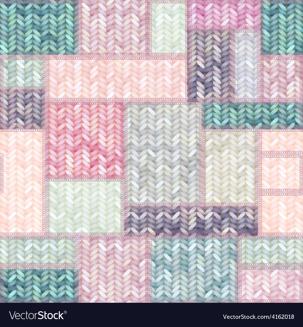 Patchwork of knitted patches vector | Price: 3 Credit (USD $3)