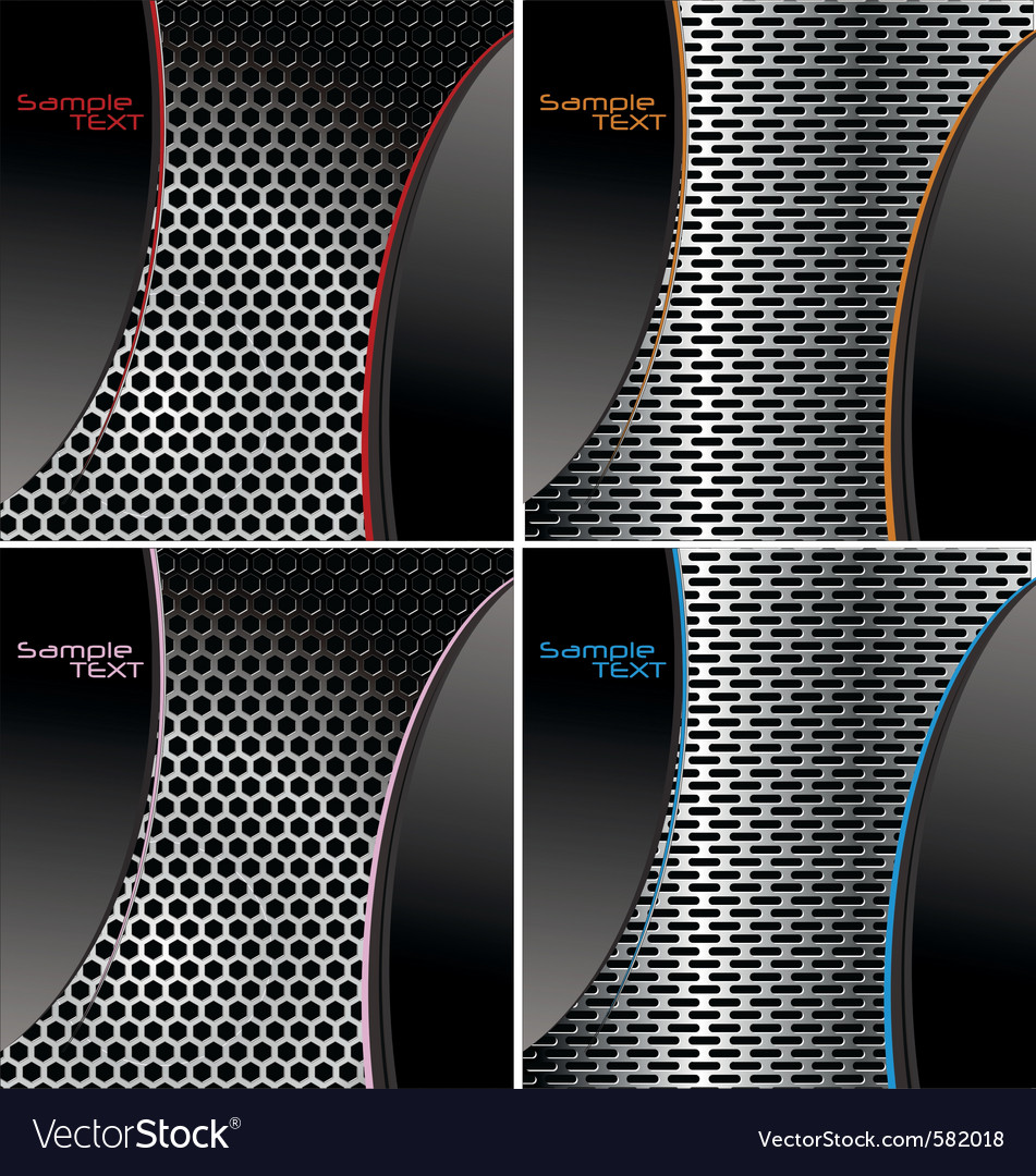 Perforated metal backgroundset vector | Price: 1 Credit (USD $1)