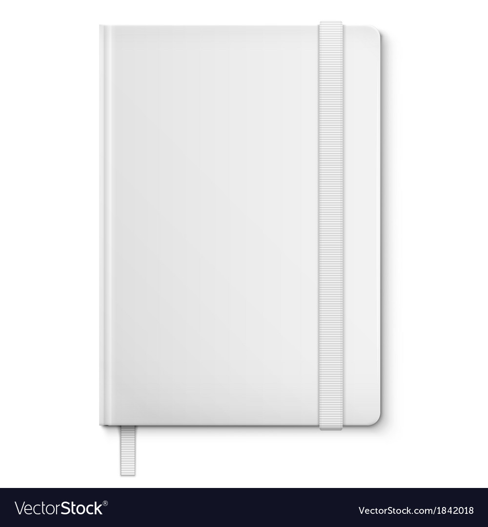 Realistic white blank notebook with bookmark vector | Price: 1 Credit (USD $1)