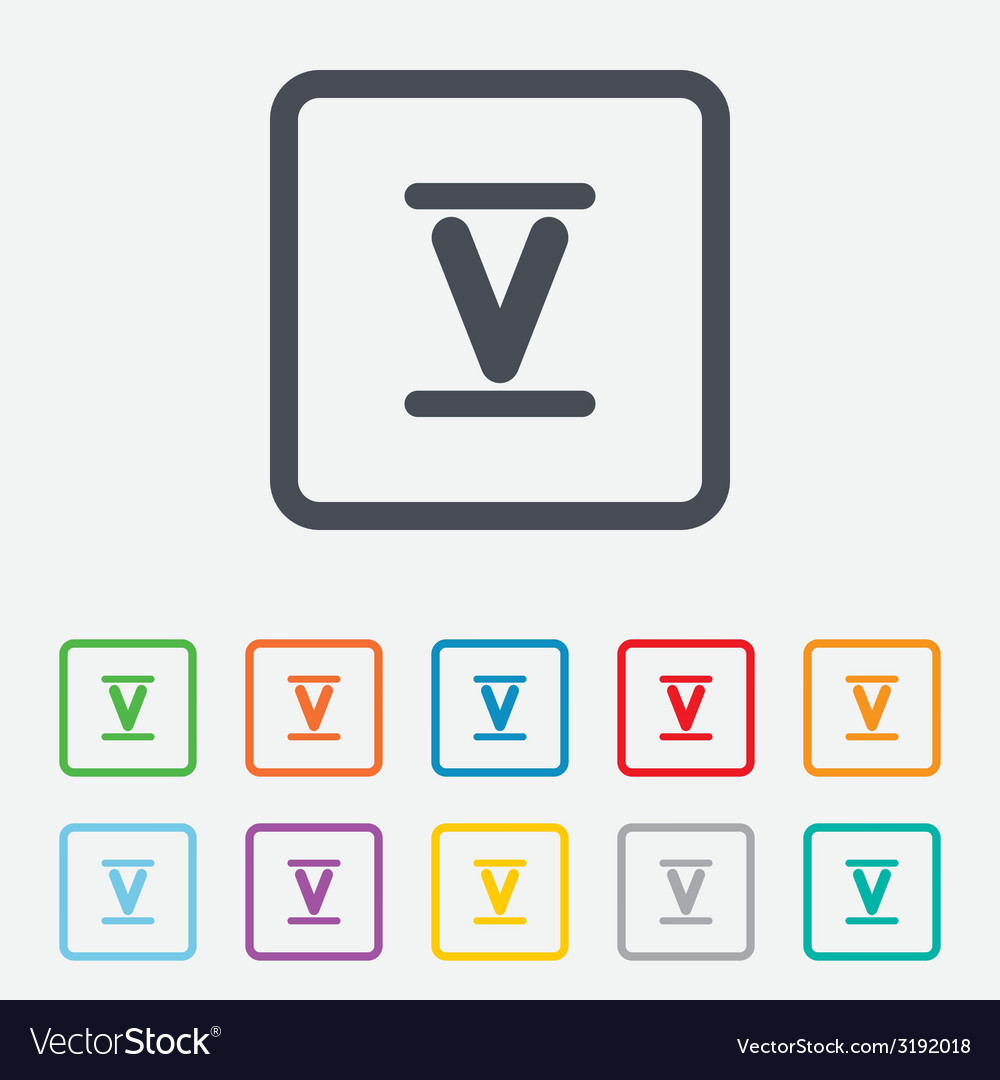 Roman numeral five icon roman number five sign vector | Price: 1 Credit (USD $1)