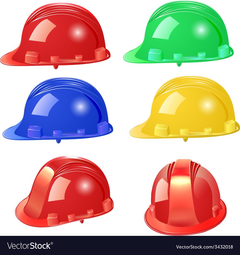 Set of building helmet vector | Price: 1 Credit (USD $1)