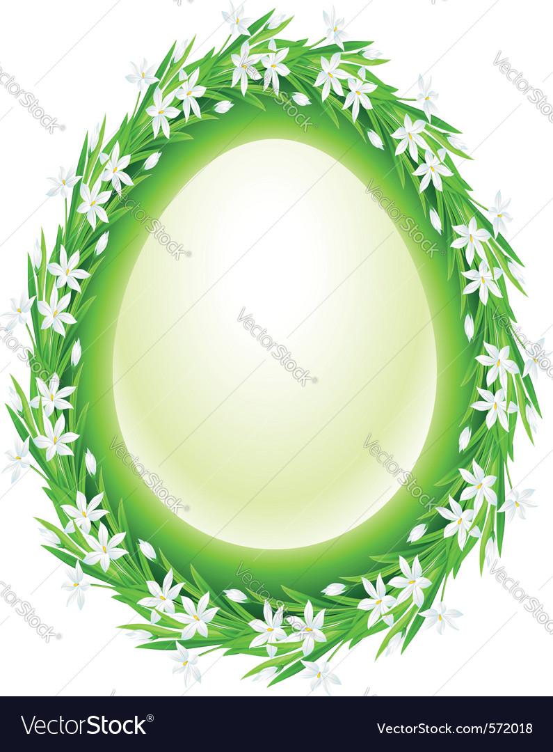 Spring flower frame egg vector   Price: 1 Credit (USD $1)