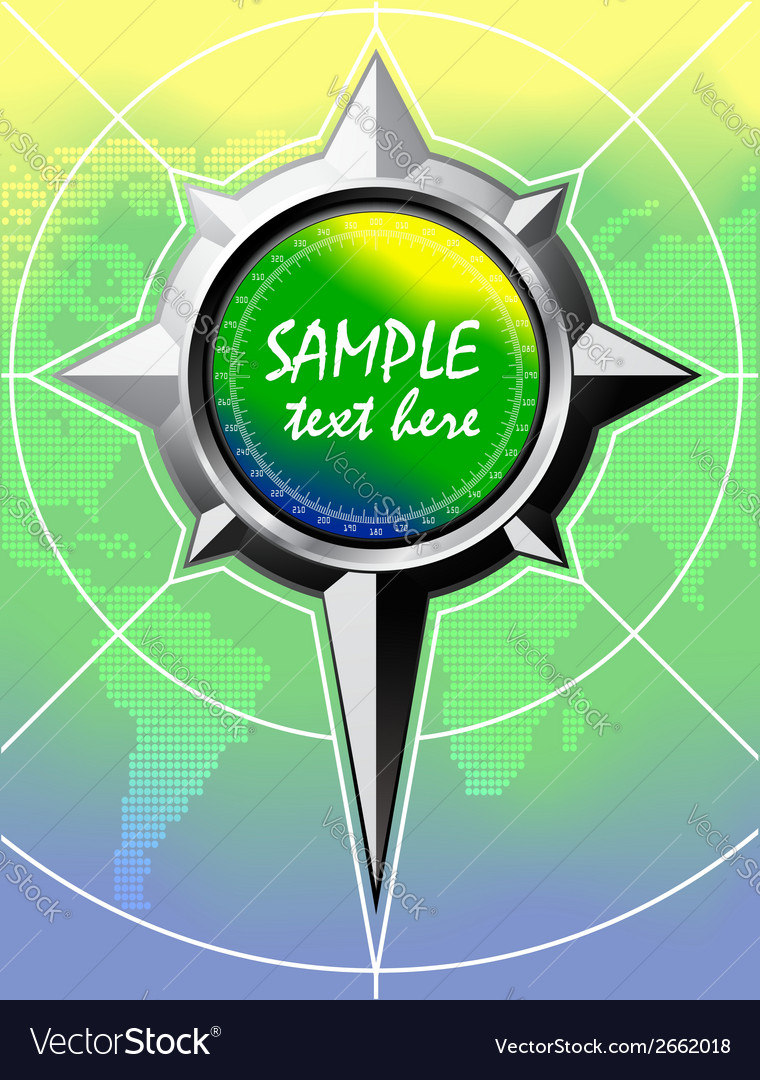 Summer color background with compass rose vector | Price: 1 Credit (USD $1)