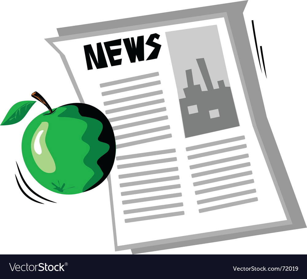 Apple news vector | Price: 1 Credit (USD $1)