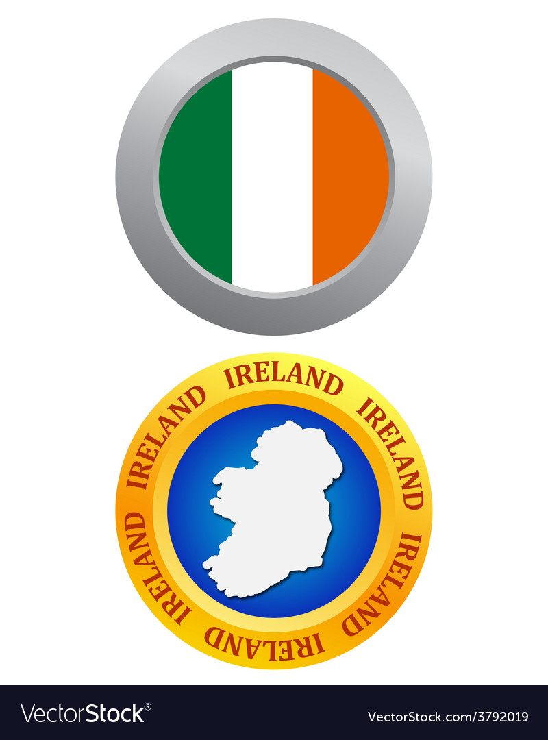 Buttons as a symbol of ireland vector | Price: 1 Credit (USD $1)