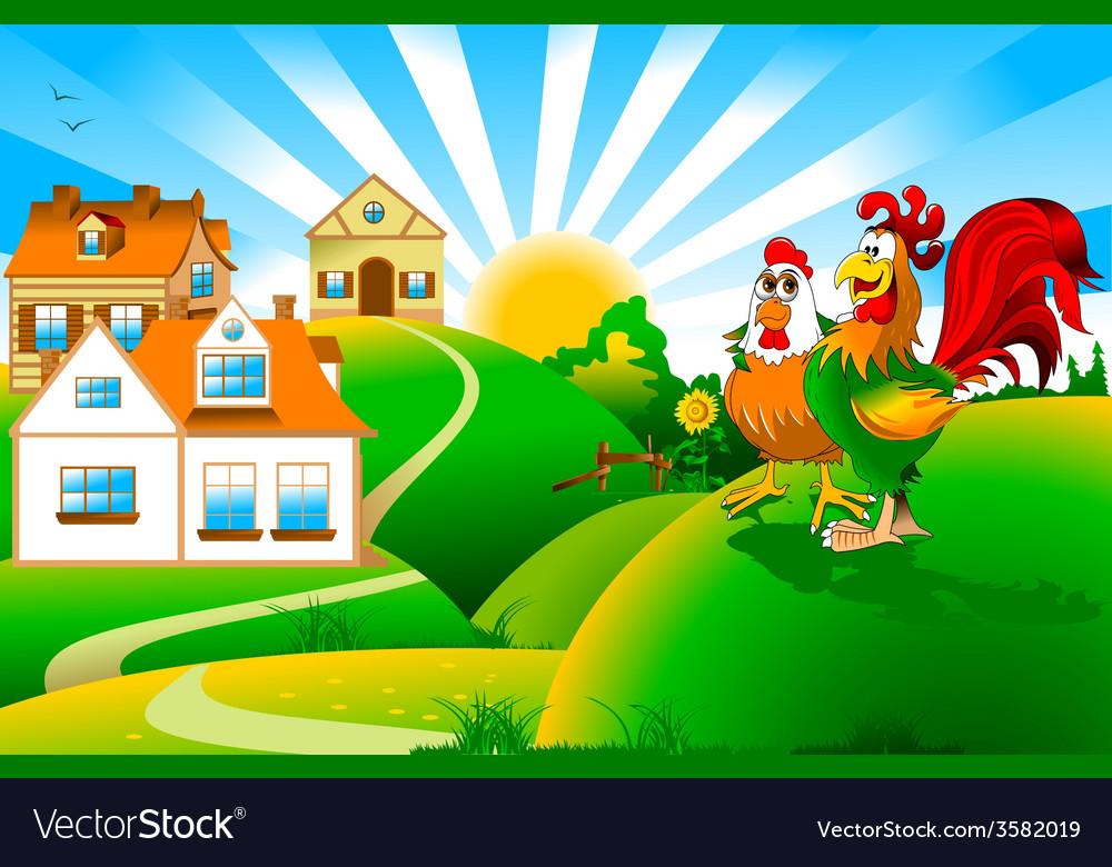 Cartoon rooster design vector   Price: 1 Credit (USD $1)