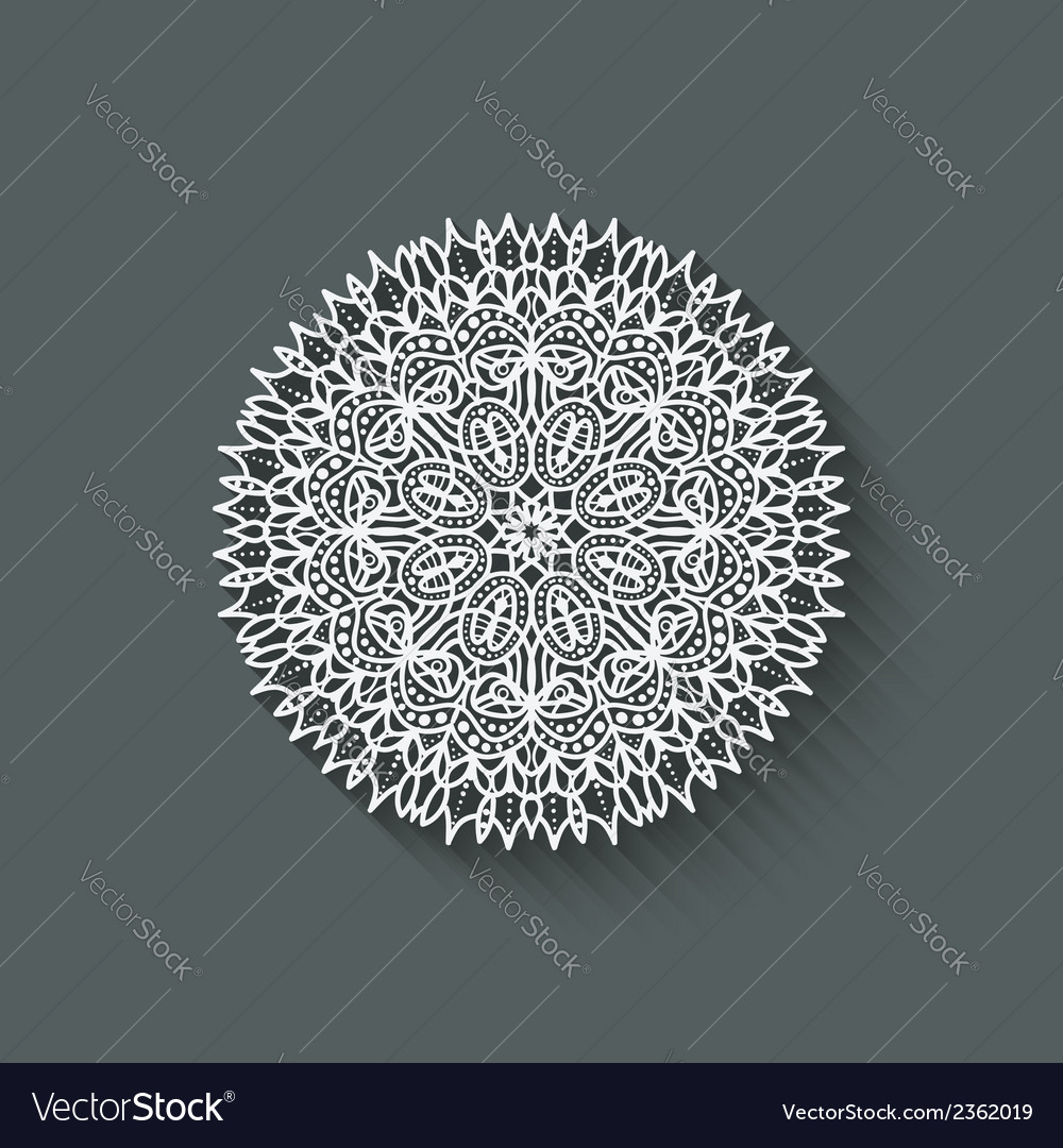Circular pattern design element vector | Price: 1 Credit (USD $1)