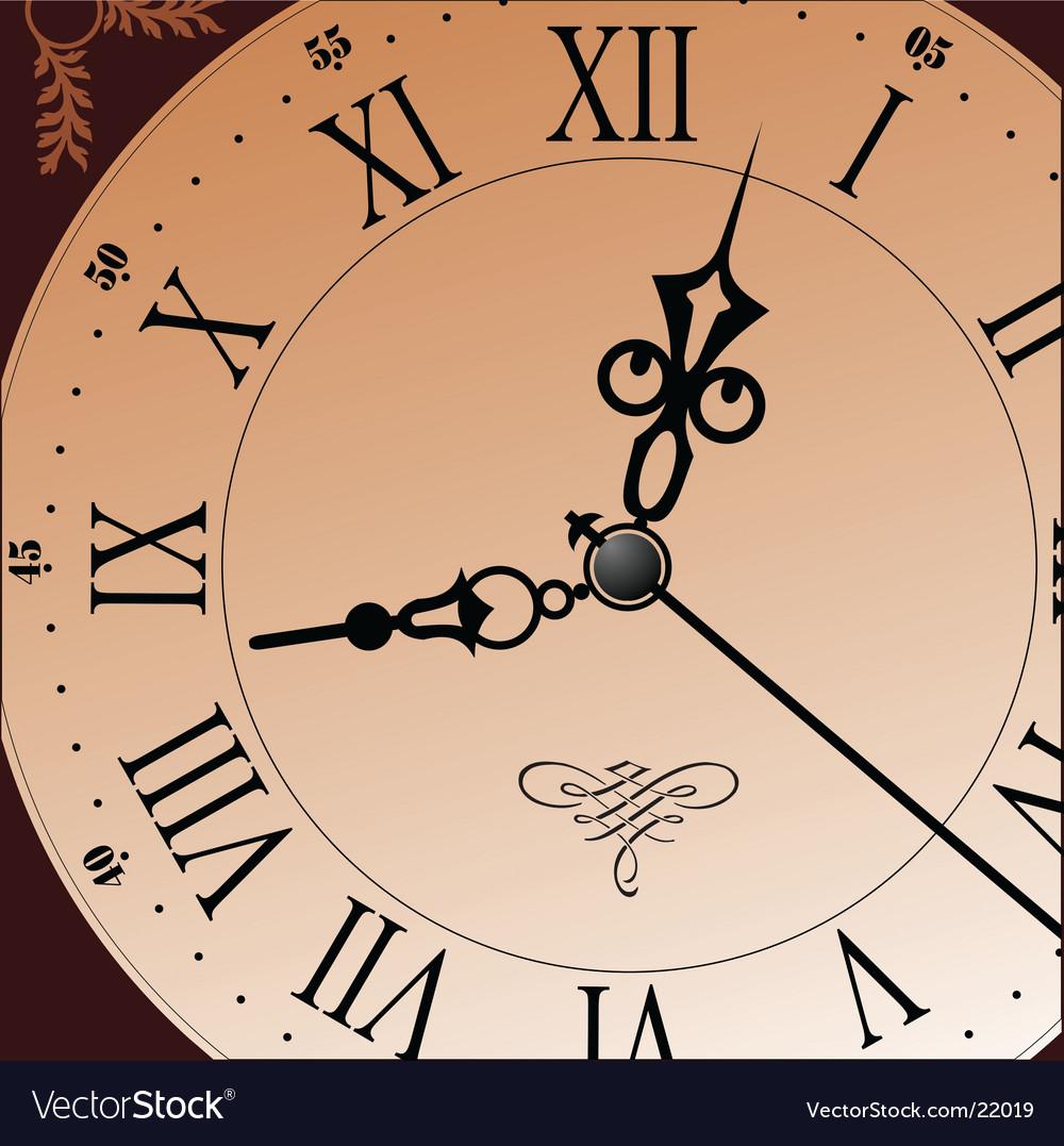 Clock design vector | Price: 1 Credit (USD $1)