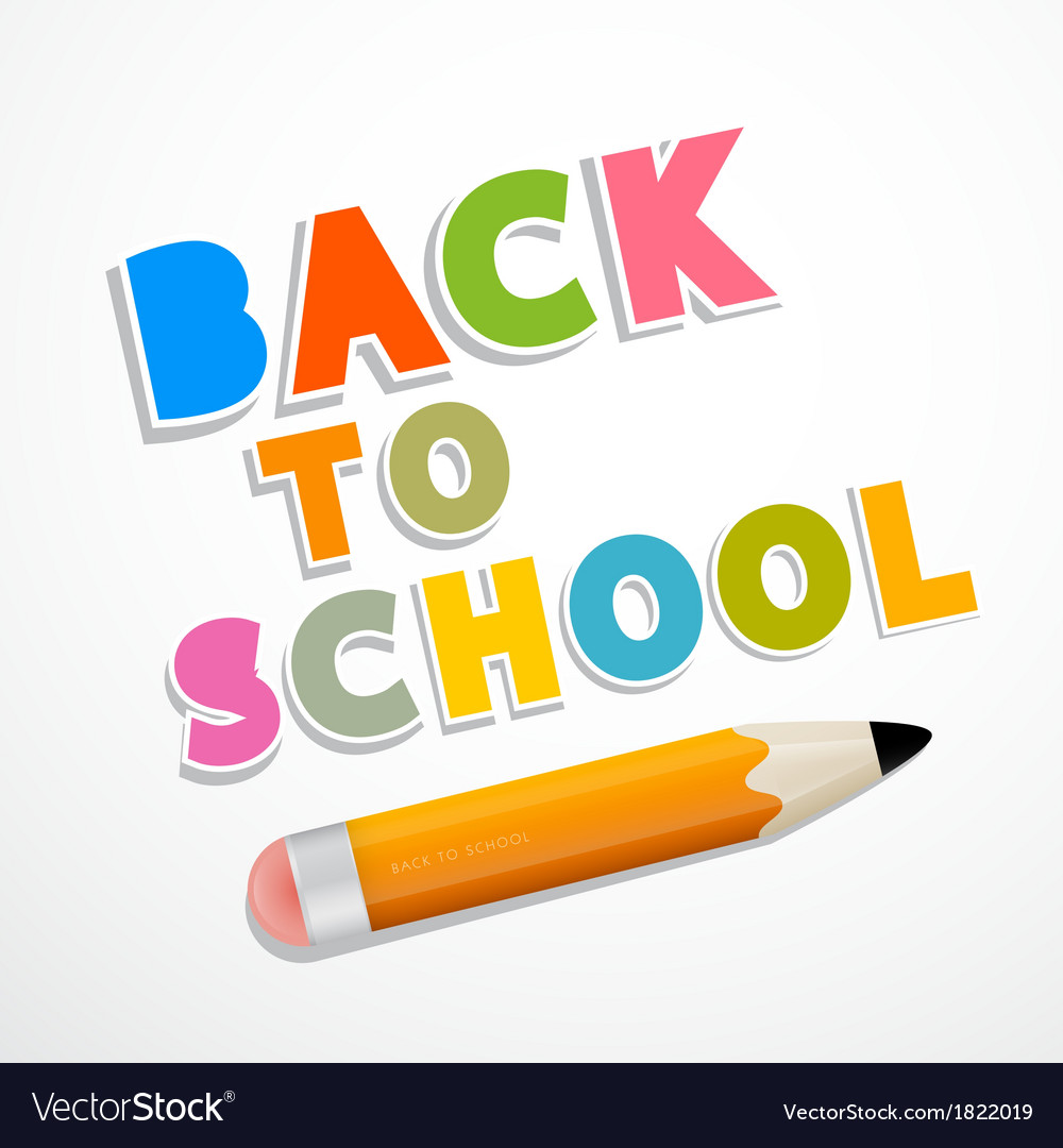 Colorful back to school background with pencil vector | Price: 1 Credit (USD $1)