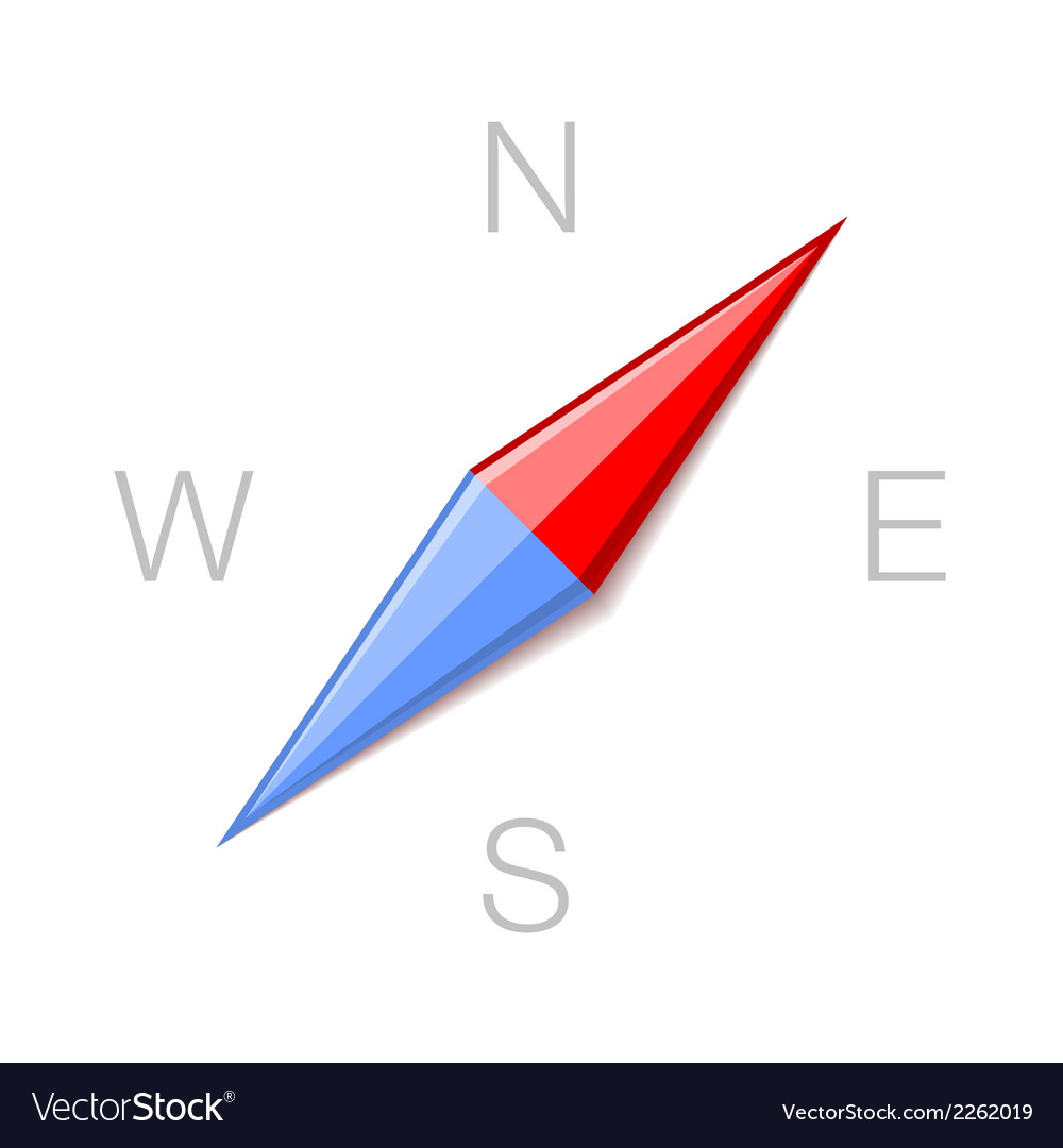 Compass minimalistic style icon symbol vector | Price: 1 Credit (USD $1)