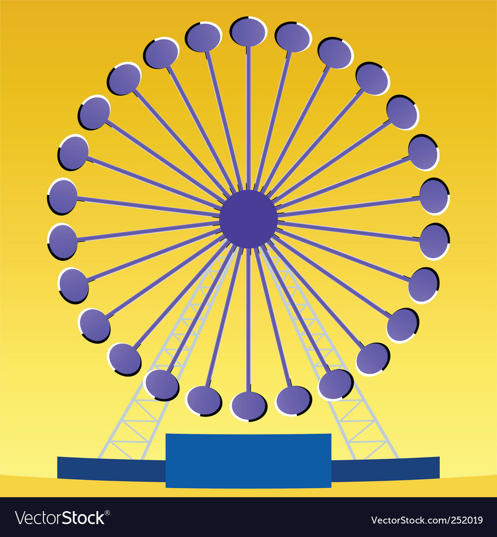 Ferris wheel illusion vector | Price: 1 Credit (USD $1)