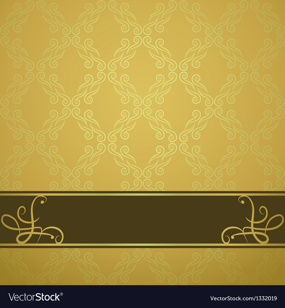 Golden background with a brown board vector | Price: 1 Credit (USD $1)