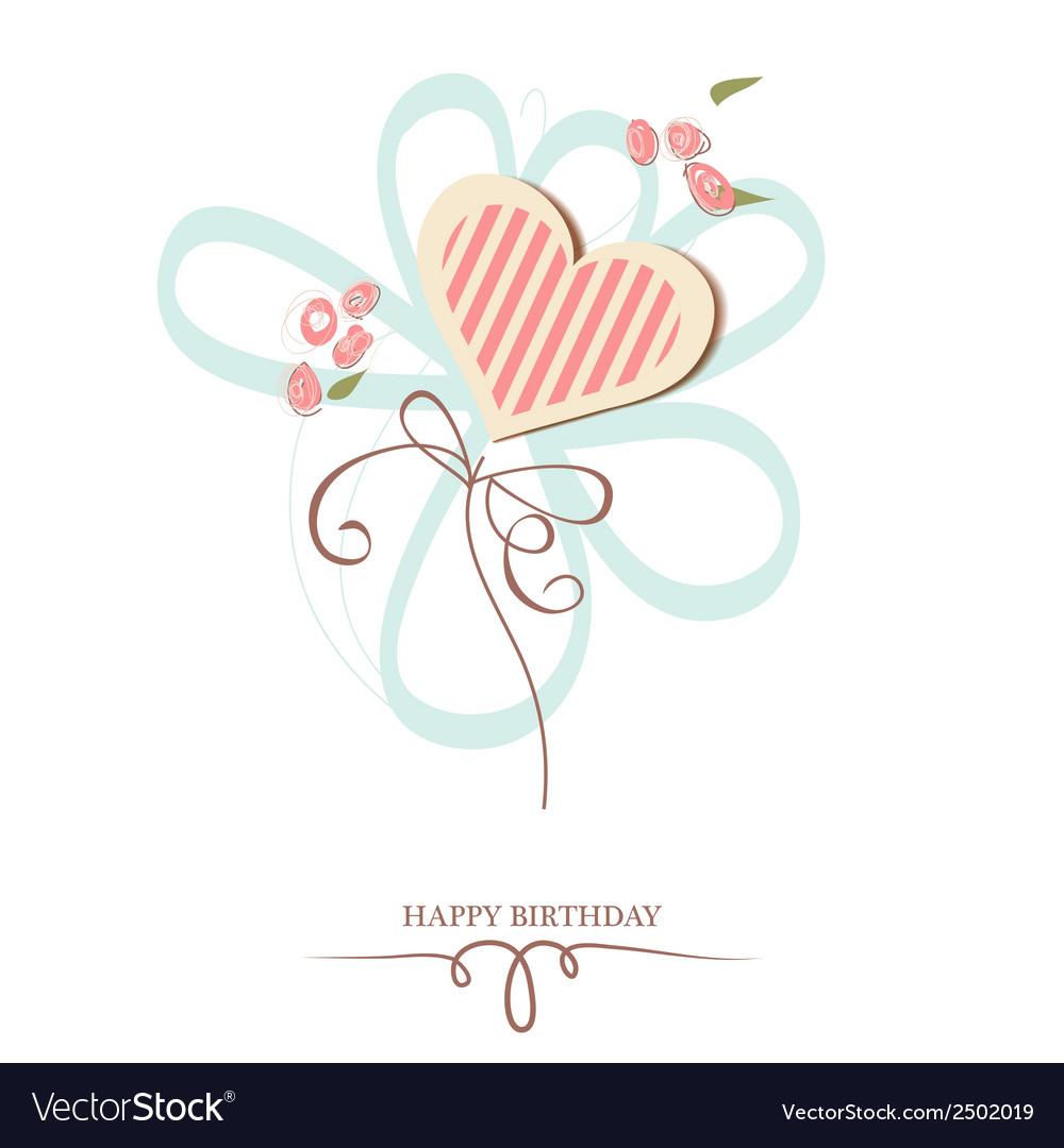 Happy birthday heart vector | Price: 1 Credit (USD $1)