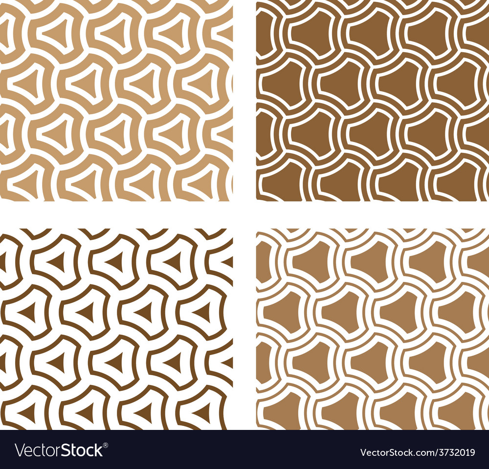 Line rounded triangle seamless background vector | Price: 1 Credit (USD $1)