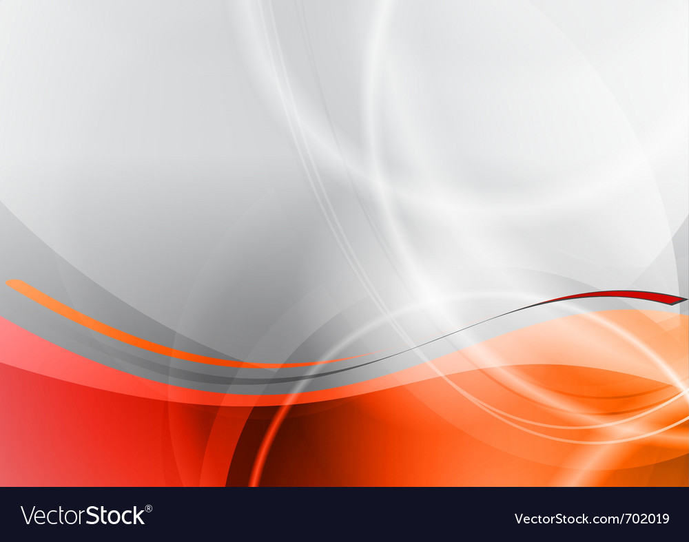 Orange and grey wave abstract background vector | Price: 1 Credit (USD $1)