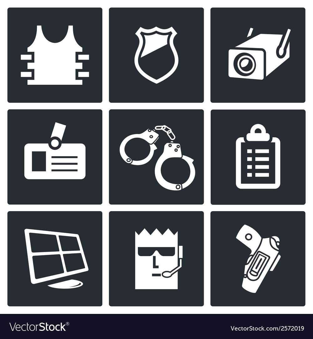 Security icon collection vector | Price: 1 Credit (USD $1)