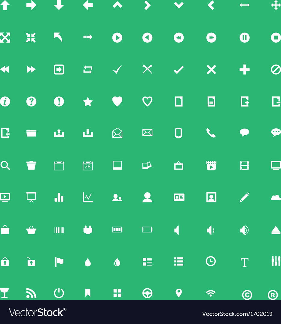Set of application icons vector | Price: 1 Credit (USD $1)