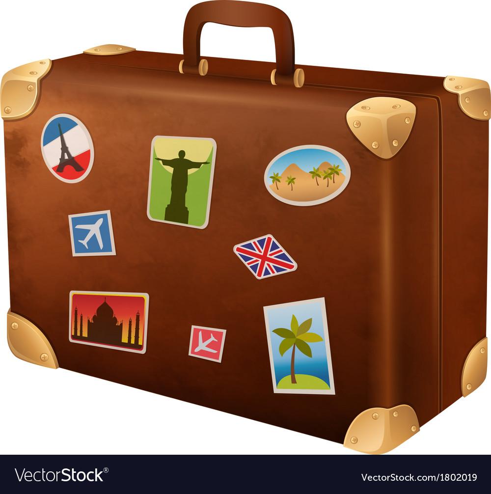Suitcase traveler vector | Price: 1 Credit (USD $1)
