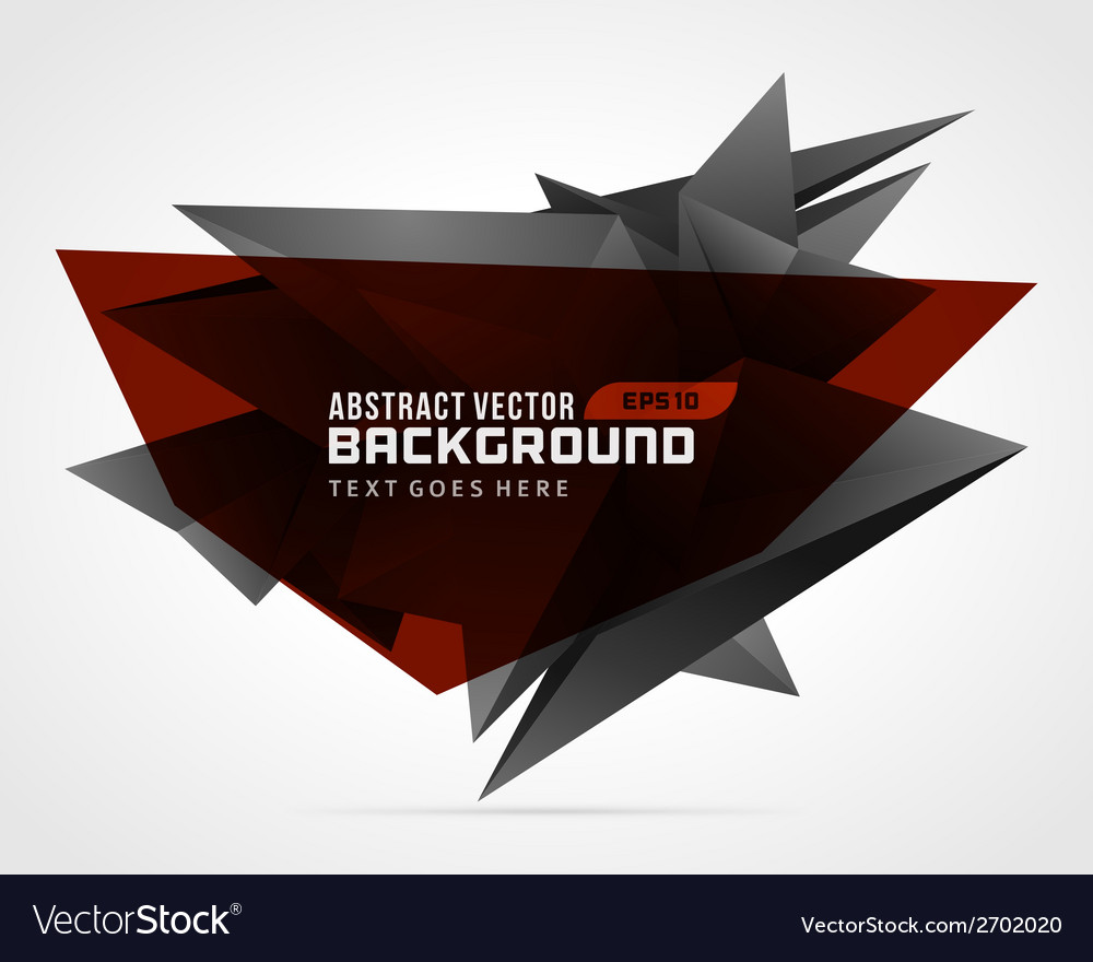 Abstract geometric 3d red shape background vector | Price: 1 Credit (USD $1)