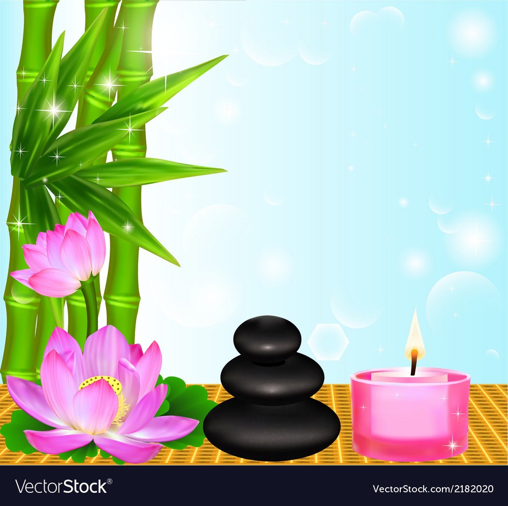 Background spa flower vector | Price: 1 Credit (USD $1)