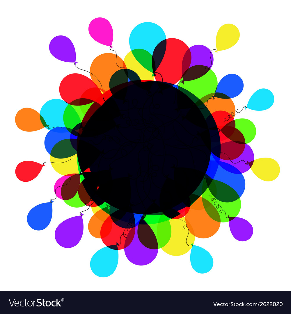 Balloon frame vector | Price: 1 Credit (USD $1)