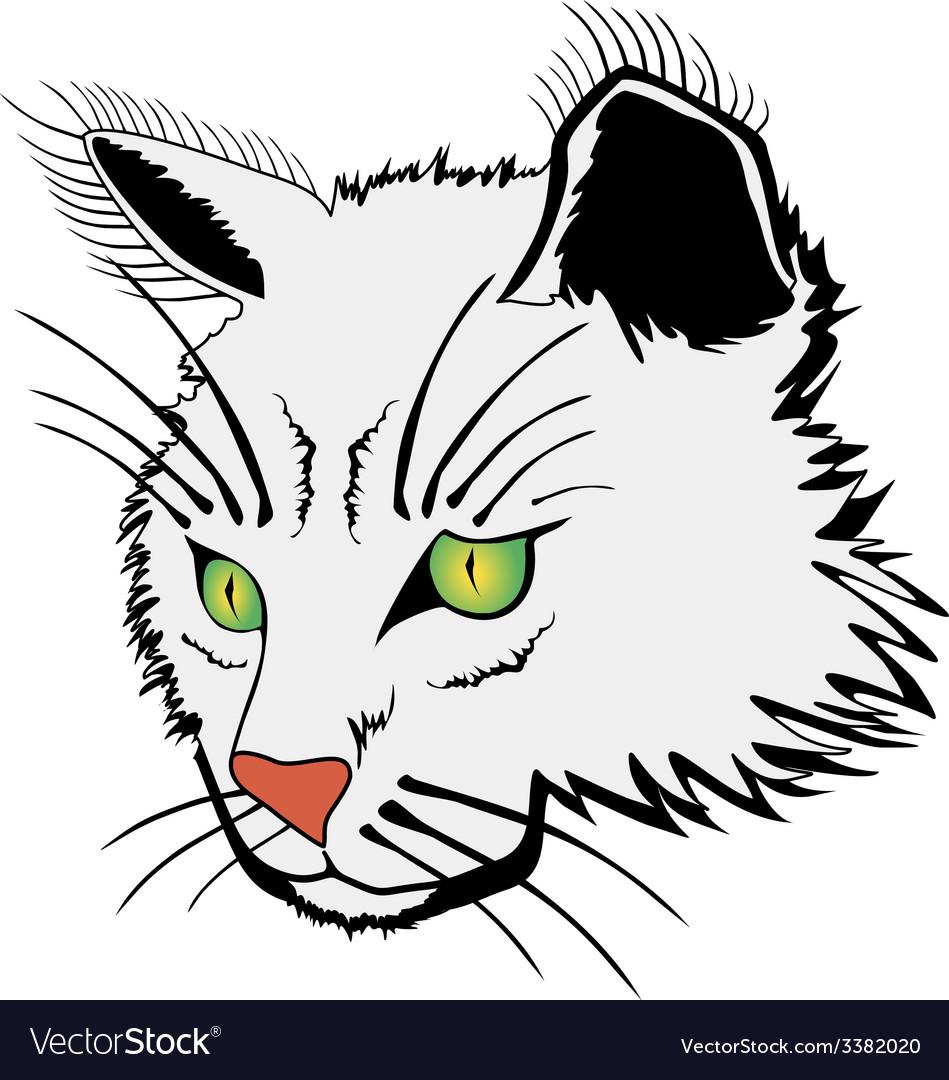 Cat face vector   Price: 1 Credit (USD $1)