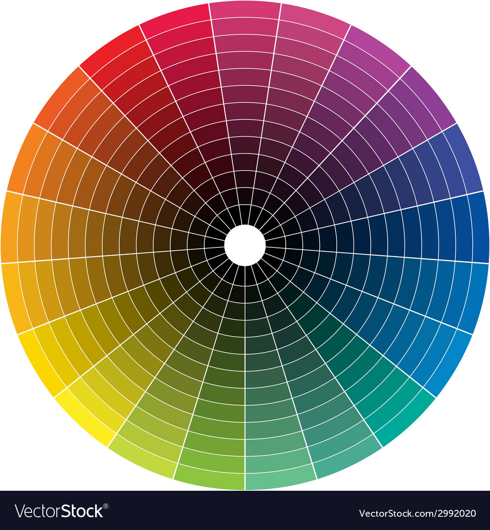 Color whell to black vector