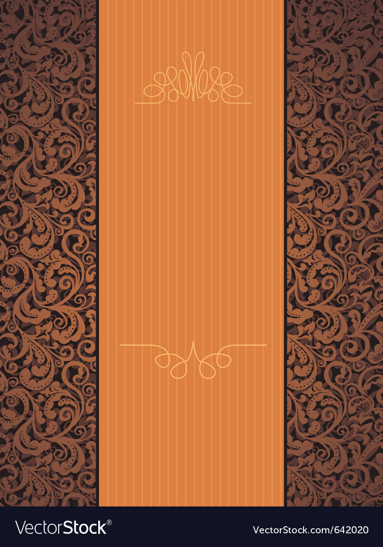Floral beautiful orange background vector | Price: 1 Credit (USD $1)