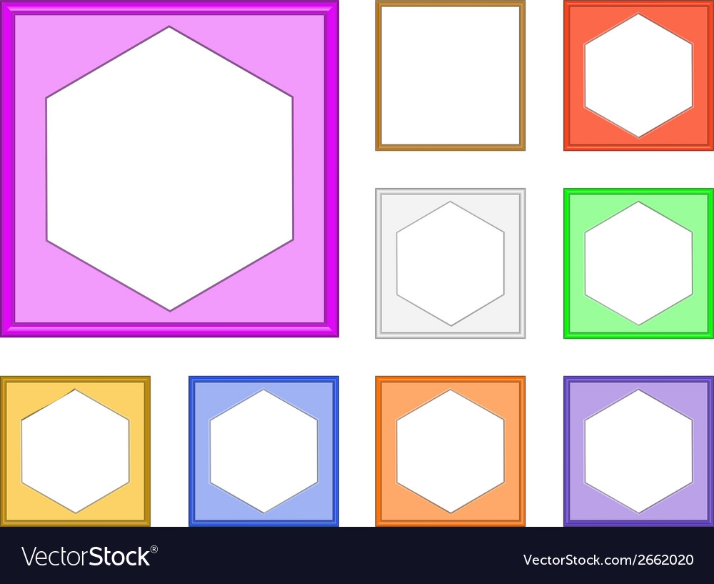 Modern frame hexagon vector | Price: 1 Credit (USD $1)