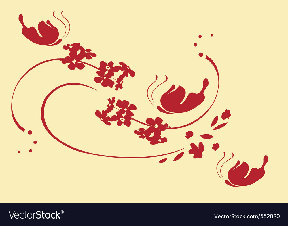 illustration of funky abstract beautiful fl vector | Price: 1 Credit (USD $1)