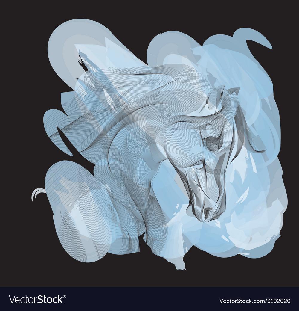 Ornamental horse vector | Price: 1 Credit (USD $1)